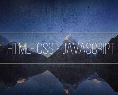 Html – Css – JavaScript